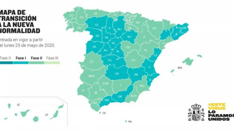 Mapa Fases España Covid 19